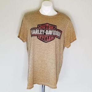 Harley Davidson Studded Embellished Short Sleeve T